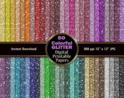 glitter wrapping paper colorful glitter digital paper pack 50 sparkle digital scrapbook