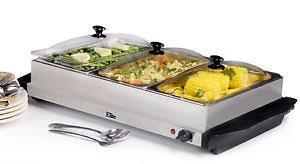 Elite Platinum Stainless Steel Buffet Server by Maximatic Ewm 6171 Elite Platinum 3 Tray 2 1 2 Quart Buffet Server