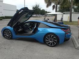 bmw supercar blue fully electric bmw i8