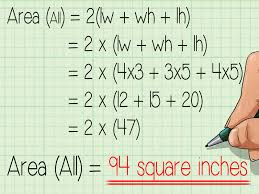 how to calculate the surface area of a rectangular prism with