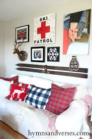 create a winter ski lodge gallery wall with products from