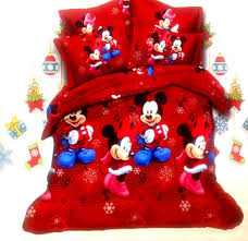 destiny 3d mickey mouse minnie mouse double xl bedsheet king size