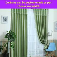 Valance Curtains Living Room Blockout Green Valance Fabric Bedroom Door Curtain Drape Sheer
