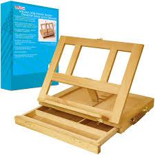 Light Wood Desk Artist Wood Tabletop Portable Desk Easel With Storage Drawer