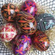 Home Decor Stores In Canada Black Pysanka Decorated Egg Shell Handmade In Canada Heritage
