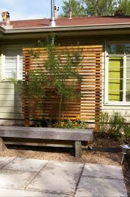 Backyard Privacy Screens Trellis Wood Screen For In Front Of Block Wall Outdoor Pinterest