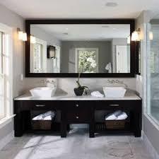 Mirror Vanity Bathroom Sleek Bathroom Design With Ceiling Mounted Hanging Mirrors
