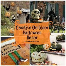 round up ideas creative outdoor halloween decor