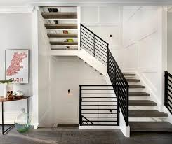 wood step stairs case design with metal balustrade the modern