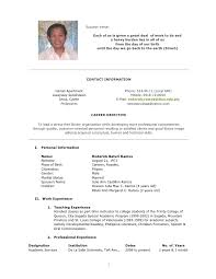 Sample Resume Undergraduate by Curriculum Vitae Sample Resume Update Template Curriculum Vitae