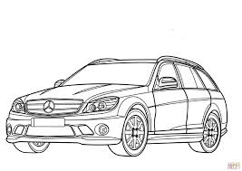 nissan skyline drawing outline mercedes benz c class wagon coloring page free printable