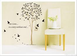 black forest birds tree branch wall quote decor art mural home