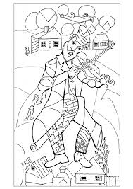 green coloring page new coloring page from a marc chagall painting coloring pages