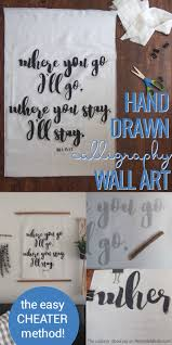 remodelaholic large scale diy calligraphy art the easy way no more empty walls turn some things you have around the house into this diy