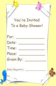 baby shower invitation templates free cimvitation