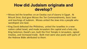 how did judaism originate and develop ppt