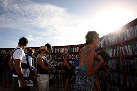 ikea creates world u0027s longest outdoor bookcase on sydney u0027s bondi