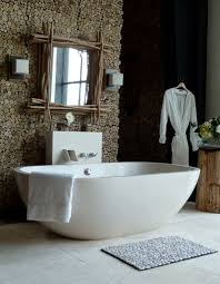 awesome bathroom design idea with comfy big white freestanding