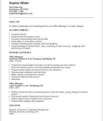 Sample Resume For Office Administrator by Office Assistant Advice Resume For Office Manager Objective