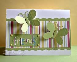 paper craft idea how to make a friendship card with butterflies