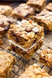 gluten free pumpkin chocolate chip oatmeal breakfast bars vegan