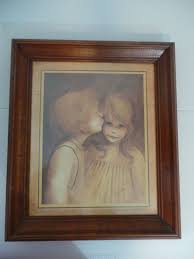 home interiors and gifts framed art vintage home interior a little kiss framed art print by margaret kane