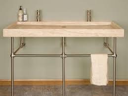 Bathroom Trough Sink Sink U0026 Faucet A More Modern Bathroom Trough Sink Two Faucets