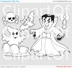 halloween bat clip art transparent background clipart outlined halloween skull bat vampire candle and ghost