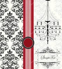 Design Patterns For Invitation Cards Romantic Invitation Card Design With Chandelier And Place For Text
