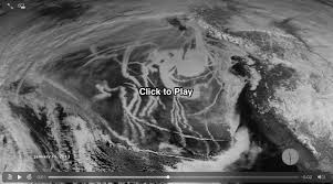 pattern of white clouds in streaks a nasa satellite spotted this strangely prominent pattern of long