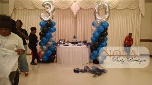 30th birthday delivery 30th birthday balloon columns blue black and silver www