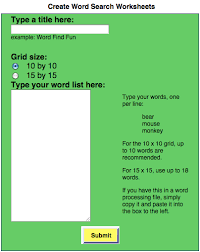 create word search worksheets use weekly spelling words or other