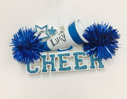 ornament cheerleading ornament blue pom