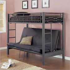 White Metal Futon Bunk Bed Dashing Black Metal Bunk Beds With Underneath And Cool White