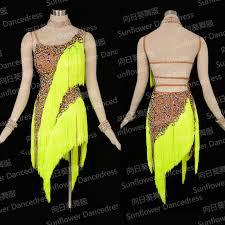 new competition fringe latin dance dress salsa dress ballroom gown