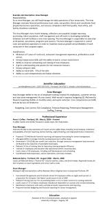 fda resume resume for your job application