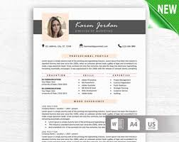 cv layout on word modern resume template for word 1 3 page resume cover