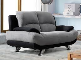 canap noir et gris canapé en microfibre bicolore gris et noir musko