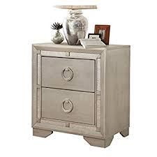 amazon com nightstand side table vintage antique silver finish