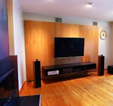 custom made media console cabinet and wall panels audio cabinet