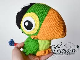 krawka skully parrot jake and the never land pirates etsy pattern