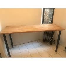 custom butcher block counter table aptdeco