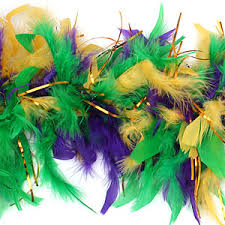 mardi gras feather boas mardi gras feather boa with tinsel mardi gras