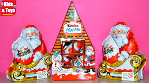 christmas kinder surprise eggs santa clause santa house edition