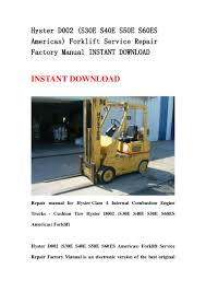 hyster d002 s30 e s40e s50e s60es americas forklift service repair u2026