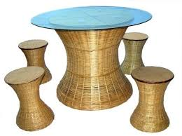 Bamboo Dining Table Set Furniture Bamboo Bamboo Dining Set Manufacturer From New Delhi