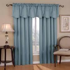 Blue Valances Window Treatments Eclipse Canova Blackout River Blue Polyester Curtain Valance 21