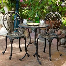 patio bistro table and chairs this french style outdoor bistro set will lend classy style to with