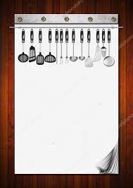 cahier de cuisine vierge cahier vierge avec ustensiles de cuisine photographie catalby
