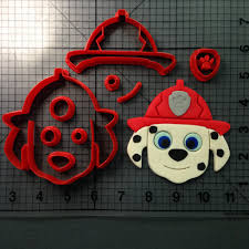 paw patrol logo cookie cutter set